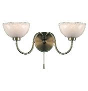 Antique 2 Lamp Wall Bracket 1006-2AN