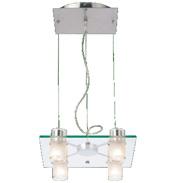Satin Chrome 4 Lamp Square Pendant Height- 1603 4SQ