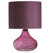 Harrow Table Lamp & Shade In Aubergine