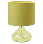 Harrow Table Lamp & Shade In Green